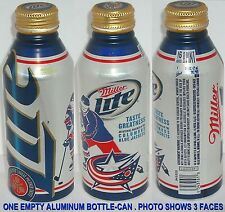 2012 COLUMBUS BLUE JACKETS SPORTS NHL OH PRO ICE HOCKEY ALUMINUM BOTTLE BEER CAN