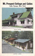 Postcard Mt Prospect Cottage and Cabins Lake George Ny