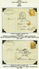 FRANCE 1875-6 TWO CLASSIC COVERS BOTH NANCY TO GERMANY ON EXHIBITION PAGE PD IN