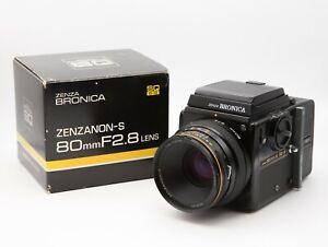 Zenza Bronica SQ B + Zenzanon 80mm f=2.8 + SQ-i 120er Magazin + WLF