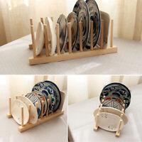 Tellerständer Holz Geschirr Ständer Tellerhalter Geschirrhalter Brettchen V4M0
