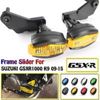 CNC Frame Slider Crash Caps Pads Engine Protection for SUZUKI GSXR1000 K9 09-15