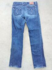 New listing Lucky Brand Dungarees Lola Straight Run Stitch Womens Blue Jeans Size 31