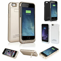 """External Battery Backup Power Bank Charger Cover Case for iPhone 6 6S 4.7"""" 5.5"""""""