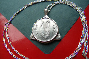 """Choice of Year-- 1993 to 2000 IRISH Celt Triquetra Pendant, 30"""" 925 Silver Chain"""
