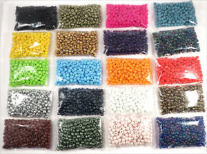 Lot 5000 Seed Beads 20 Colors 4mm Glass Opaque
