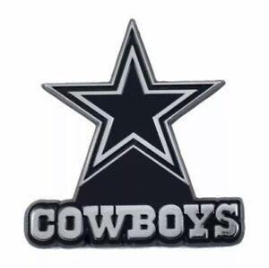 Fanmats NFL Dallas Cowboys Diecast 3D Chrome Emblem Car Truck RV 2-4 Day Del.