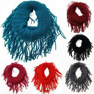 Girl's Loop Round Tassel Girls Scarf Warm Winter Autumn Kids Collar Scarf Neck