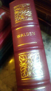 WALDEN by Henry David Thoreau - Easton Press Leather 100 GREATEST BOOKS EVER