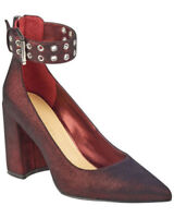 $89 size 8.5 Marc Fisher Dalanna Dark Red Ankle Strap Pump Womens Shoes
