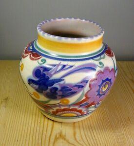 Poole Pottery Art Deco Blue Bird Vase