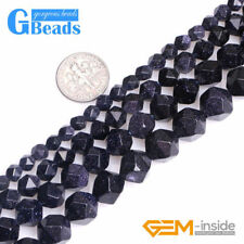 Semi Precious Stone Faceted Blue Sandstone Round Beads for Jewelry Making 15