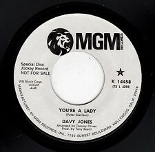 RARE PROMO-DAVY JONES (MONKEES)-MGM 14458-YOU'RE A LADY/WHO WAS IT