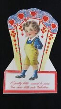 Vintage Victorian Dapper Boy Valentine Card c. Early 1900s