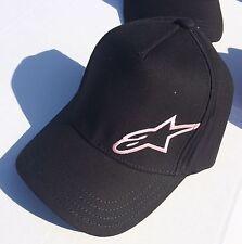 AlpineStars Flex Fit Moto Casual Cap Black Classic Hat Headwear - One Size - NEW