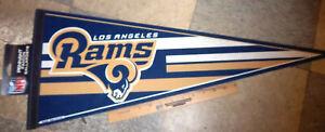 Los Angeles Rams NFL football Team 30 x 12 Felt Pennant, beautiful Logo, NEW