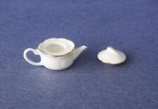 Miniature Dollhouse White Teapot 1:12 Scale New