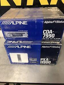 Vintage Alpine F1 Status Car Audio CDA-7990 and PXA-H900