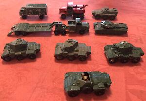 Matchbox Vintage Job Lot  9 Military Diecast Vehicles