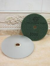 "100mm Grit 3000 4"" inch THK Diamond FLAT LAP lapping wheel hook loop backed disc"