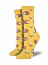 Crew Socks Hedgehogs And Strawberries Shoe Size 6-12