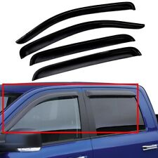 For 2010-2018 Dodge Ram 2500 3500 Crew Cab Window Visor Vent Rain Deflector 4Pcs