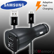 GENUINE Samsung Dual Car DC 11-30V Adaptive Fast Charger 9V Galaxy S6 S7 Edge +