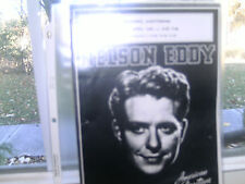 Copy Of Nelson Eddy Concert Program From New York Singing Date-WOW!!!!!!!!!!!!!!