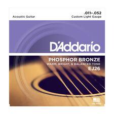 D'Addario EJ26 Phosphor Bronze Acoustic Strings. Warm,bright,well balanced tone.