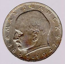 2 DM 1960 G Max Planck in sehr schön/vorzüglich
