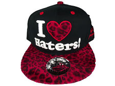 Snapback I Love Haters Baseball Cap Nero Rosso Leo HipHop State Property  Obey ea002a046789