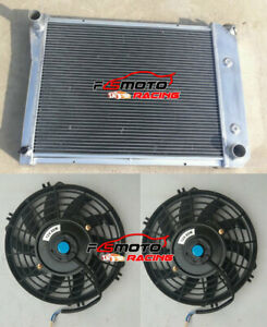 3 Row aluminum radiator & fans for Chevy Nova PRO 1968-1974/SMALL BLOCK 72-79 AT