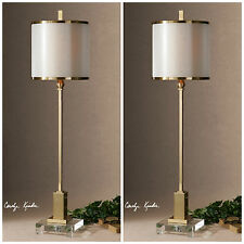 PAIR HOME DECOR CONTEMPORARY TABLE LAMPS