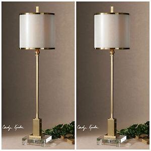 "PAIR VILLENA 35"" HOME DECOR CONTEMPORARY TABLE LAMPS UTTERMOST"