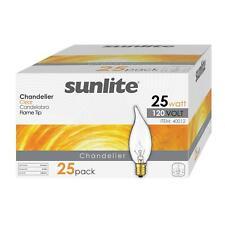 25 Pack Sunlite llama Punta 25W Petite Araña E12 base bombilla de cristal claro