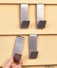 Set 4 Vinyl Siding Clips Fastener Hangers Hanging Decoration Wall Hooks Metal