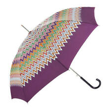 100% genuine MISSONI iconic zigzag print UMBRELLA purple edge auto opening bnib