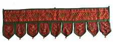 Maroon Indian embroidered toran door valances wall hanging Elephant Home Decor