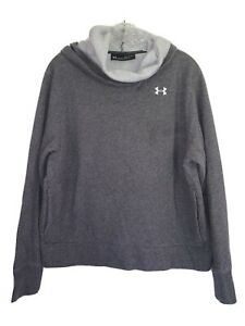 Under Amour Over sized Hoodie Gray Sweat Shirt Size XL Long Sleeve #365