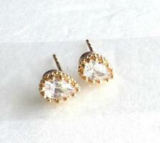 Butterfly Yellow Gold Plated Stud Pear Costume Earrings