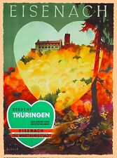 Eisenach Besucht Thuringen Germany German Vintage Travel Advertisement Poster