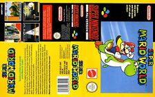 Super Mario World SNES Box Art Case Insert Cover Scan Reproduction Inlay