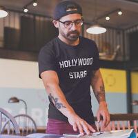Mens Hollywood Stars T-Shirt Music Worn By Thom Yorke Radiohead Distressed Retro