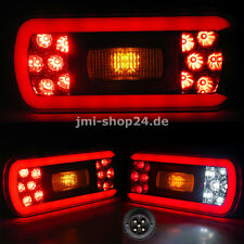 2 LED Rückleuchten für Anhänger Transporter Wohnwagen 12V 24V Bajonett TOP