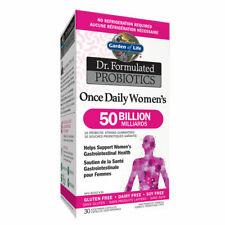 Jardín de la vida Dr. formulado probióticos una vez al día para mujer 50 mil millones de gluten FR