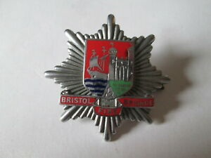 Bristol fire brigade cap badge. Fire brigade badge. Fire fighting equipment