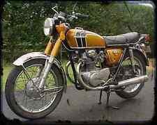Honda Cb350K4 74 1 A4 Foto Impresión moto antigua añejada De
