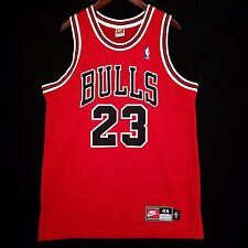 100% Authentic Michael Jordan Nike Bulls Red NBA Jersey Size 44 L - White tag
