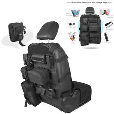 Universal Seat Back Cover Organizer Storage Molle Pouch Bag For Jeep Ford Toyota