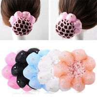 Dance Net Hair Bun Maker Braids Cover Satin Hair Holder Crochet Hair Sticks